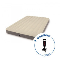 Matelas gonflable Intex Downy Fiber-Tech 2 places XL - Blanc