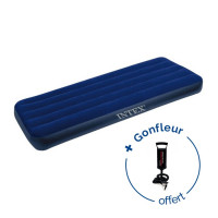 Matelas gonflable Intex Downy Classic 1 personne