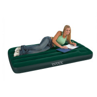 Matelas gonflable intex downy fiber tech 1 personne version 2017 raviday matelas - Matelas gonflable pompe integree mode d emploi ...