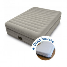 Lit gonflable Intex Prime Comfort 2 places + drap housse
