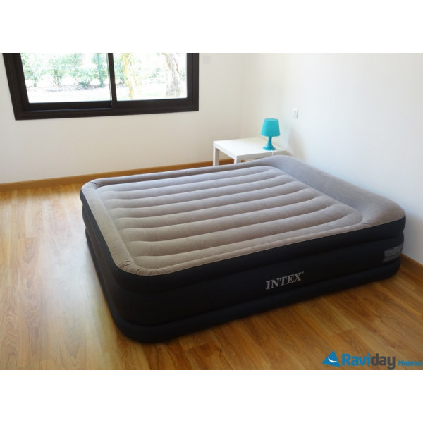 intex rest bed deluxe 67738 matelas gonflable lectrique 2 places. Black Bedroom Furniture Sets. Home Design Ideas