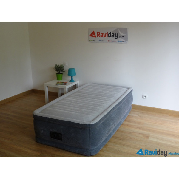 matelas gonflable intex comfort plush fiber tech 1 place raviday. Black Bedroom Furniture Sets. Home Design Ideas