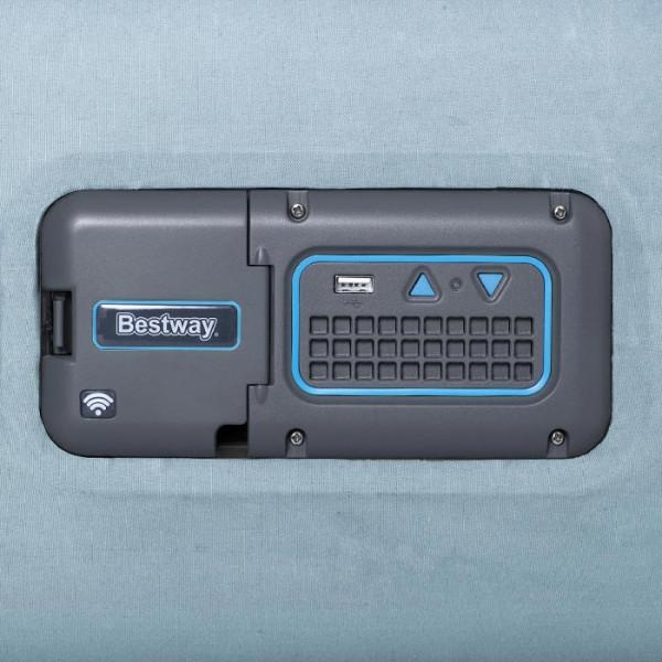 Lit gonflable électrique connecté Bestway Fortech + Prise USB