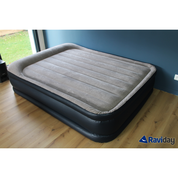 Intex rest bed deluxe fiber tech 2 places matelas gonflable lectrique intex - Matelas gonflable 3 personnes ...