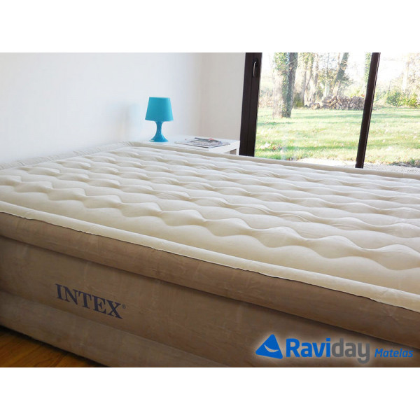 Matelas gonflable intex ultra plush fiber tech 2 places - Matelas gonflable 2 place ...