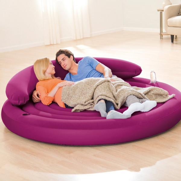 pouf gonflable intex ultra daybed lounge violet raviday matelas. Black Bedroom Furniture Sets. Home Design Ideas