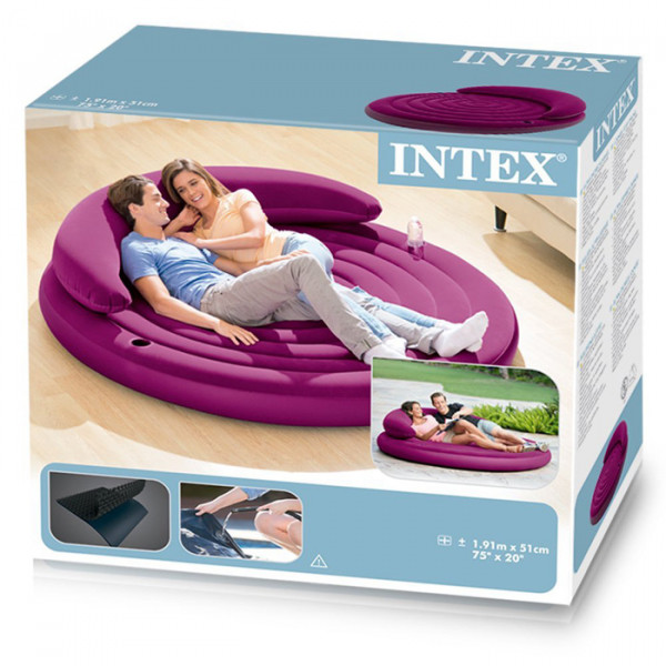pouf gonflable intex ultra daybed lounge violet raviday matelas. Black Bedroom Furniture Sets. Home Design Ideas