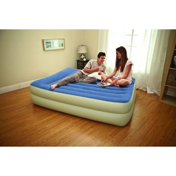 Matelas électrique Intex Rest Bed Bleu/Sable 2 Personnes