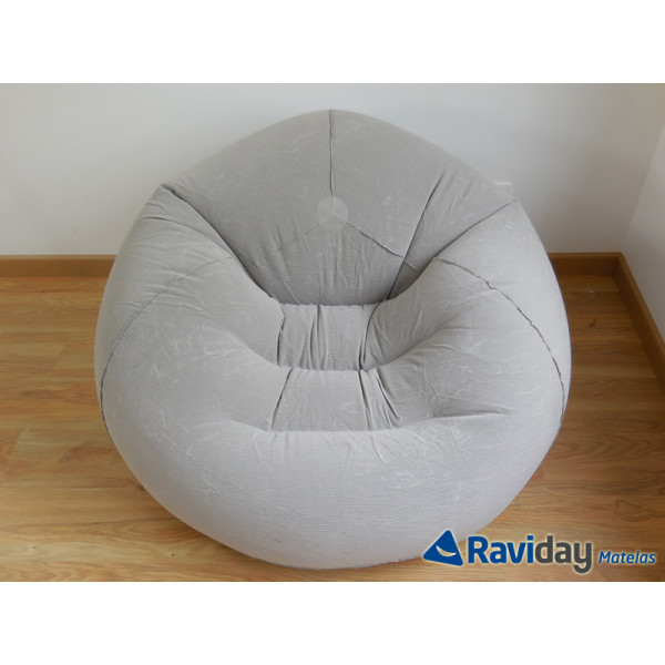 Pouf gonflable Intex texture velours
