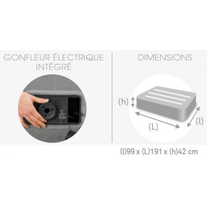 Matelas electrique gonflable 1 personne Intex Rest Bed Deluxe Fiber-Tech
