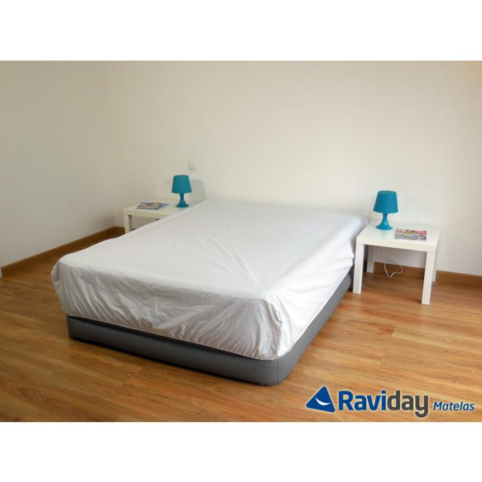 Lit gonflable électrique 2 personnes Intex Foam Top Bed Fiber-Tech