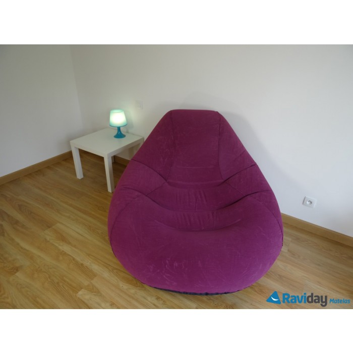 Pouf gonflable Intex Deluxe Beanless Bag Chair Violet
