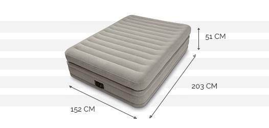 Dimensions du matelas Prime Comfort 2 places