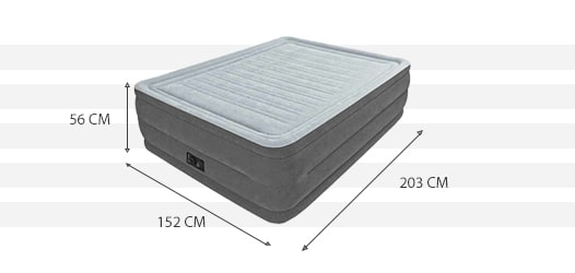 Dimensions du matelas Comfort Plush High 2 place