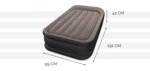 Dimensions du matelas Rest Bed Deluxe 1 place