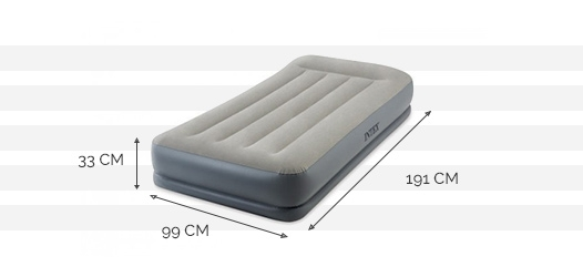Dimensions du matelas Pillow Rest Mid-Rise 1 place