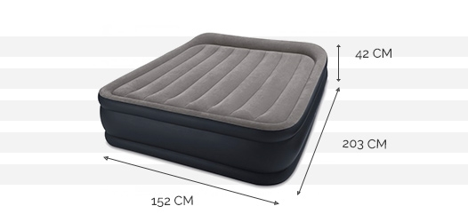 Dimensions du matelas Rest Bed Deluxe 2 places