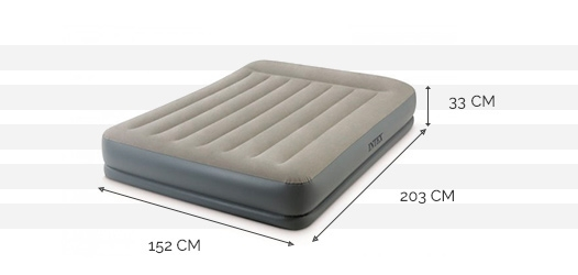 Dimensions du matelas Pillow Rest Mid-Rise 2 places