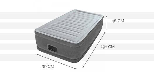 Dimensions du matelas Comfort Plush 1 place