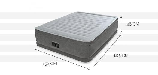 Matelas gonflable intex comfort plush fiber tech 2 places - Dimensions matelas 2 places ...