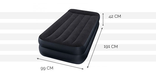 Dimensions du matelas Rest Bed 1 place