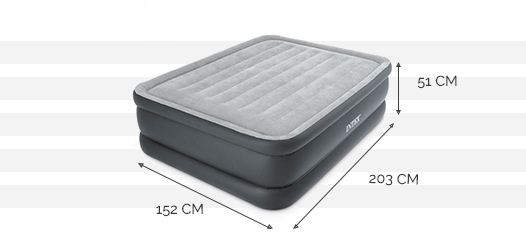 Dimensions du matelas Essential Rest Bed Deluxe 2 places