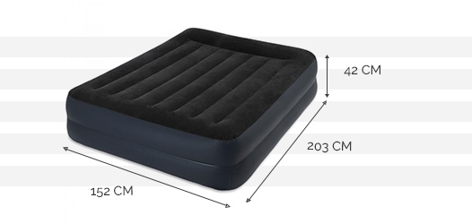 Dimensions du matelas Rest Bed 2 places