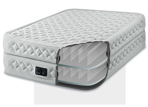Matelas lit gonflable intex supreme bed fiber tech 1 place - Lit gonflable confort supreme 2 personnes ...