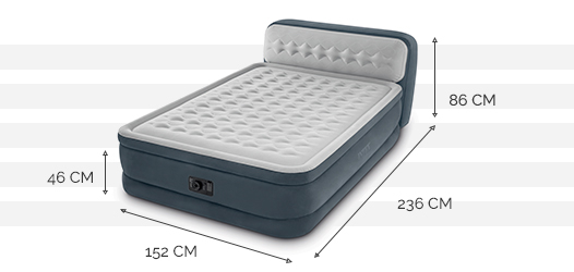 Dimensions du matelas Ultra Plush Headboard