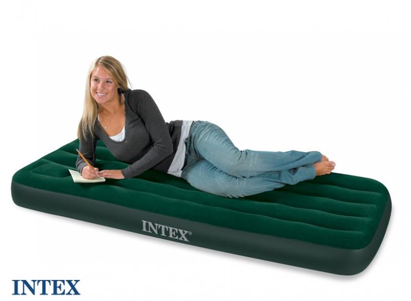 matelas gonflable 1 personne avec pompe int gr e intex downy. Black Bedroom Furniture Sets. Home Design Ideas